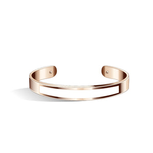 Petite Tailor Cherry Red & Pure Black Rosy Gold Bangle | 9mm
