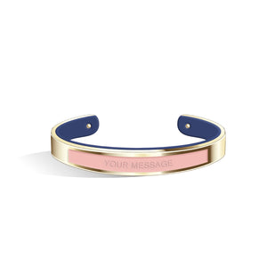 Salmon Pink & Navy Blue Petite Tailor Light Gold | 9mm