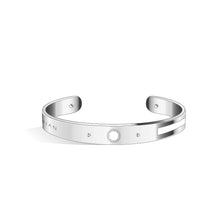 Diamond Ivory White & Pure Black Petite Constance Silver | 8mm