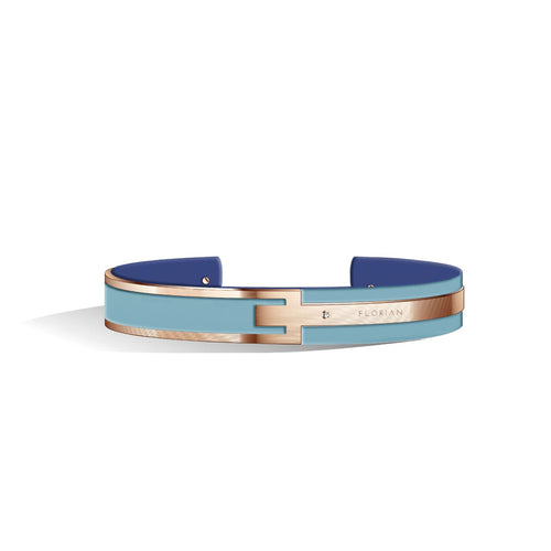 Diamond Angel Blue & Steel Blue Petite Metropolitan Rose Gold | 10mm