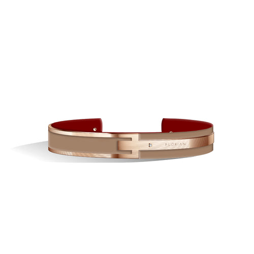 Diamond Camel Brown & Wine Red Petite Metropolitan Rose Gold | 10mm