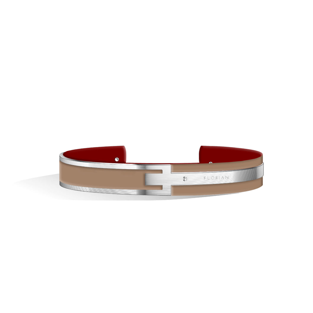 Diamond Camel Brown & Wine Red Petite Metropolitan Silver | 10mm