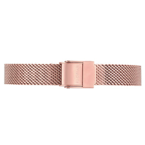 Petite Rosy Gold Mesh Band | 12mm