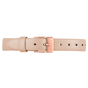 Petite Salmon Pink Leather Strap | 12mm