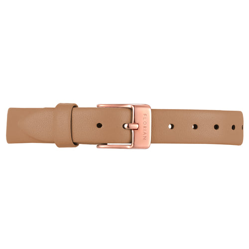 Petite Tenne Brown Leather Strap | 12mm
