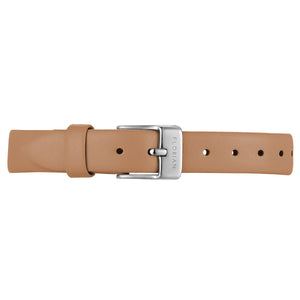 Petite Tenne Brown Leather Strap Silver Chic Buckle | 12mm