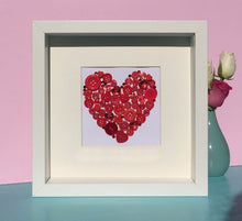 Load image into Gallery viewer, Button art heart. Personalised thank you teacher present.