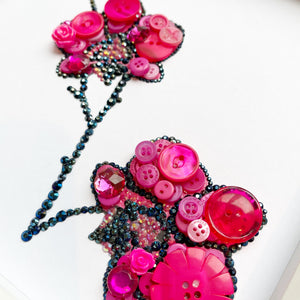 orchid button art