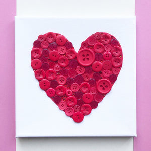 Make your own heart canvas