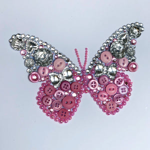 Sparkly butterfly button art