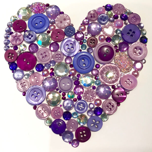 Button art heart. Personalised thank you teacher present.