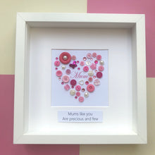 Load image into Gallery viewer, Mother's Day Gift - Personalised framed pink heart