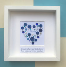 Load image into Gallery viewer, Special gift for Nanny - Personalised framed heart for Grandma