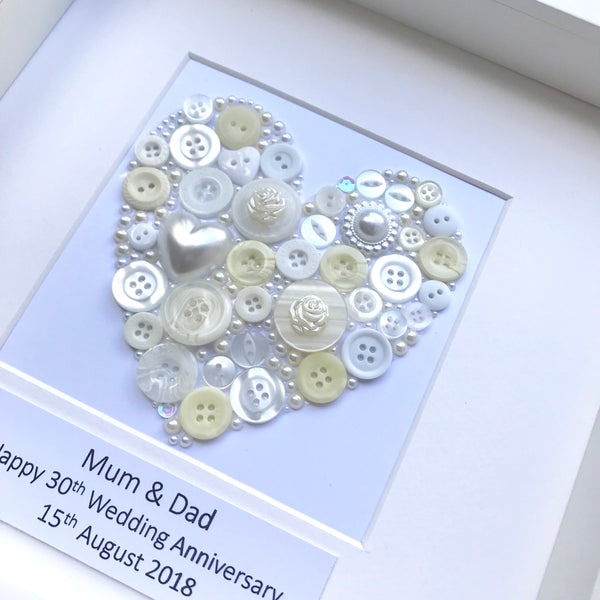 Pearl Wedding Anniversary Personalised Gift