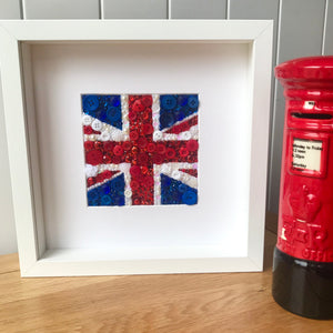 Union Jack wall art - framed button art