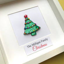 Load image into Gallery viewer, Personalised Framed Sparkly Christmas Tree