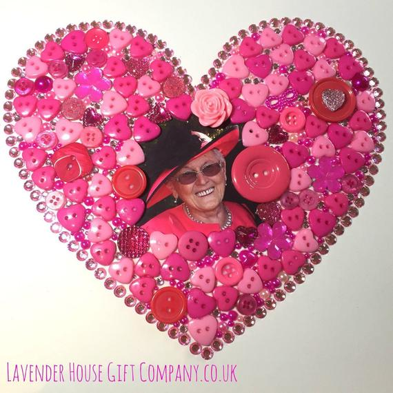 button art heart with personanlised photo