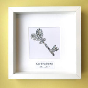 Personalised key button art - perfect housewarming gift