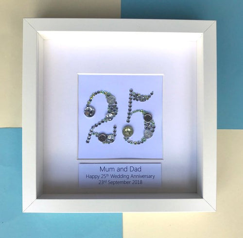 25th Wedding Anniversary Personalised Gift - Silver