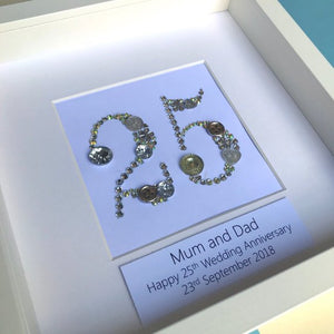 Silver Wedding Anniversary Personalised Gift