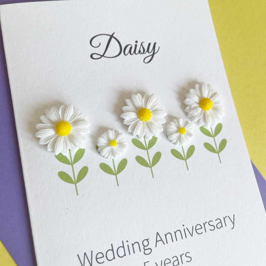 Daisy Wedding Anniversary Card | 5th Anniversary Flower