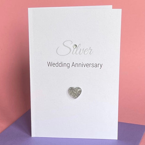 Silver Wedding Anniversary Card - 25th Anniversary