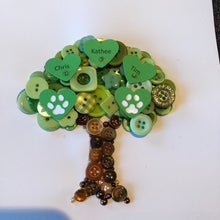 Load image into Gallery viewer, Personalised Family Tree Button Art