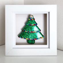 Load image into Gallery viewer, Small Framed Sparkly Christmas Tree