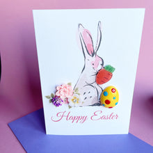 Load image into Gallery viewer, Happy Easter Card - Easter Bunny A6 Handmade Card
