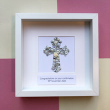 Load image into Gallery viewer, Sparkly Cross Confirmation Christening Gift