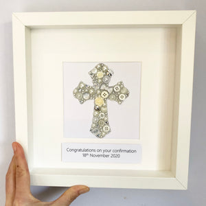 Sparkly Cross Confirmation Christening Gift