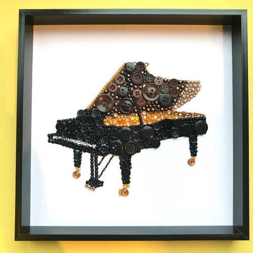 Grand piano button art