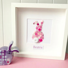 Load image into Gallery viewer, Gorgeous bunny button art - perfect nursery decor