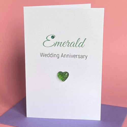 Emerald Wedding Anniversary Card - 55th Anniversary