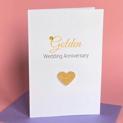 Golden Wedding Anniversary Card - 50th Anniversary