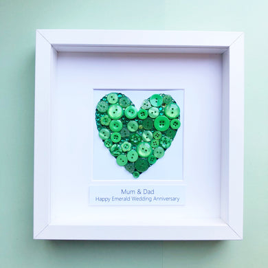 55th Wedding Anniversary Personalised Gift - Emerald