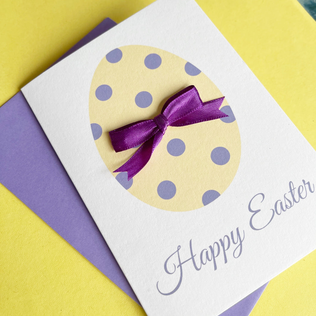 Happy Easter Card - Easter Egg A6 Handmade Card