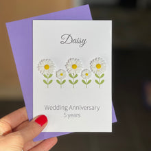 Load image into Gallery viewer, Daisy Wedding Anniversary Card | 5th Anniversary Flower