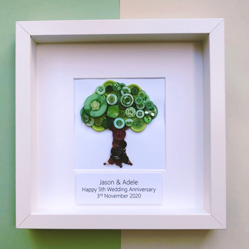 5th Wedding Anniversary Personalised Gift - Wood