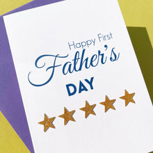 Load image into Gallery viewer, Happy First Father's Day Card