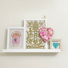 Load image into Gallery viewer, Hanging Heart Button Art - Pink 15cm