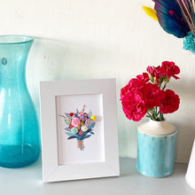 Load image into Gallery viewer, Framed Handmade Bouquet of Flowers Picture