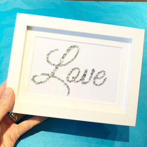 Framed silver 'Love' FREE UK DELIVERY