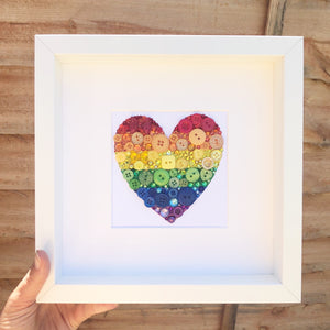 Personalised Teacher Thank You Gift Rainbow Heart