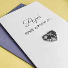 Load image into Gallery viewer, Paper Wedding Anniversary Card - 1st Anniversary