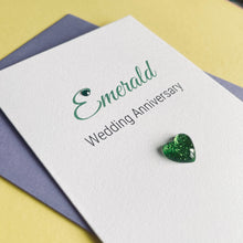 Load image into Gallery viewer, Emerald Wedding Anniversary Card - 55th Anniversary