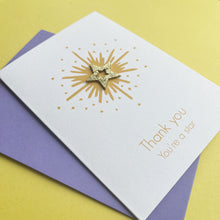 Load image into Gallery viewer, Handmade Thank You Card | You're A Star Handmade Card