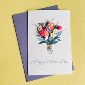 Mother's Day Card - Bouquet of flowers