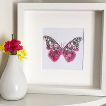 Load image into Gallery viewer, Sparkly butterfly button art