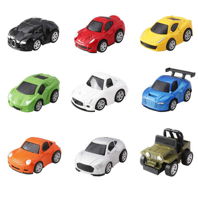 Pull Back Car Toy Set - 9 Pcs City Mini Vehicle Car for Boys Kids - Shelark